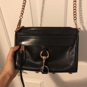 Rebecca minkoff mini mac rose gold shoulder bag